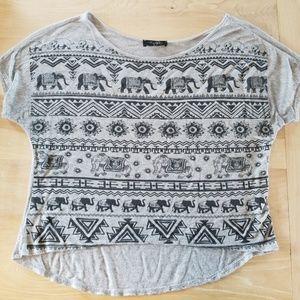 Gray and Black Elephant Shirt